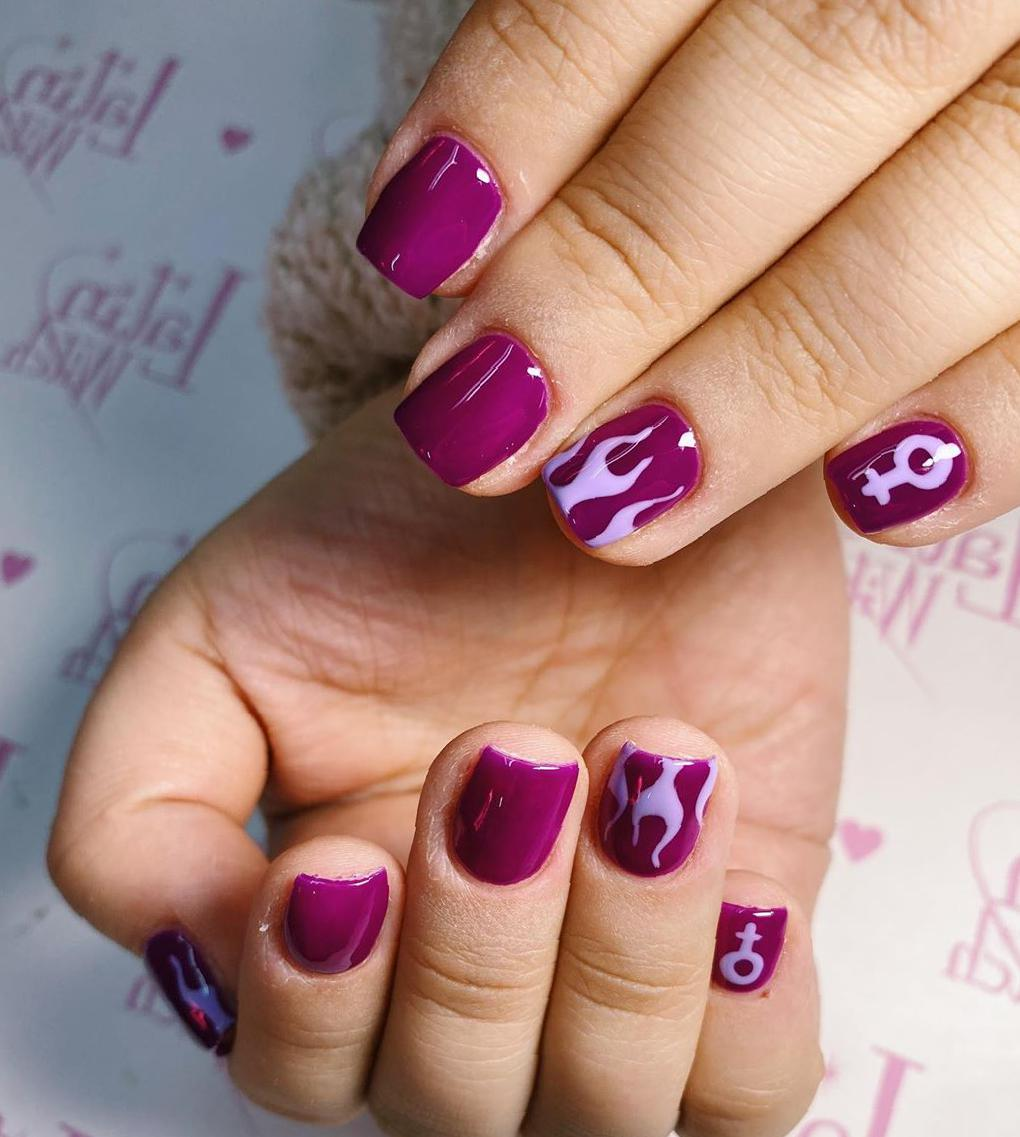 36 Awesome Ideas For Short Nails In 2020 short nails,nails trends 2020,summer nails,cute short nails,unique nails