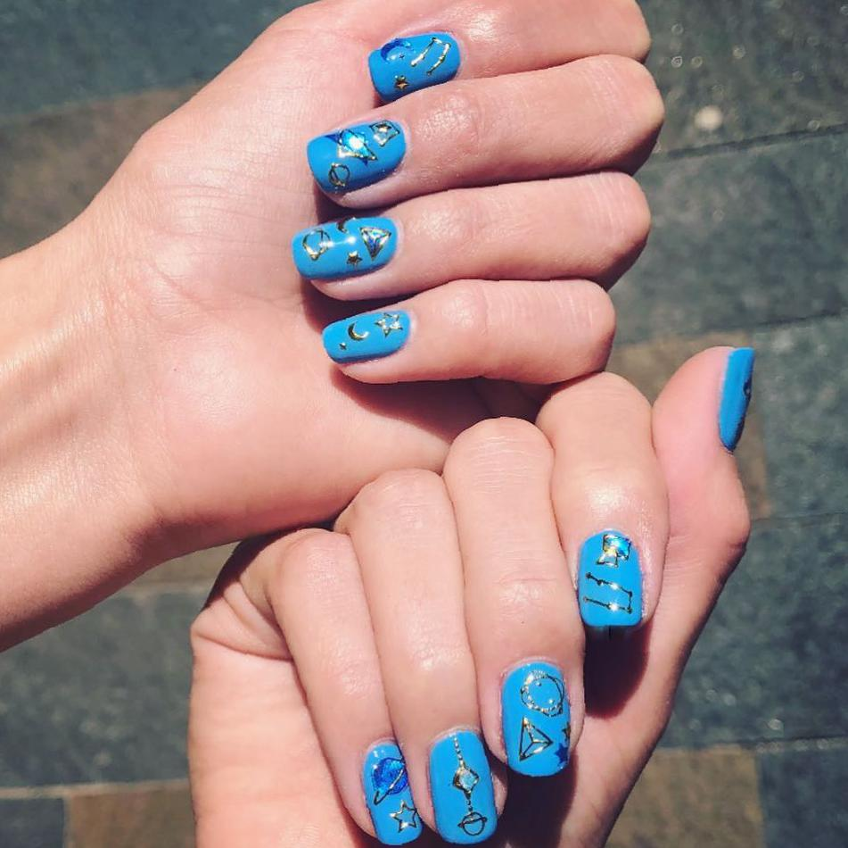 Fashionable Square Nail Art Idea Images and Designs nail art, square nail, square nail ideas, square nail art images, square nail design