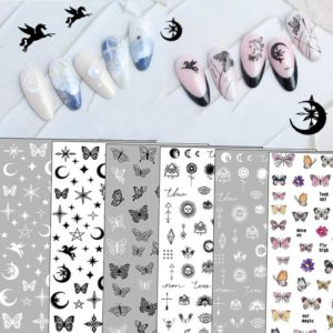1pc Butterfly Self-Adhesive Nail Stickers VT202322 - Vettsy