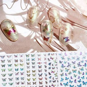 1pc Laser Butterfly Self-Adhesive Nail Stickers VT202326 - Vettsy